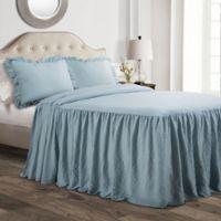 Lush Décor Ruffle Twin Bedspread Set in Lake Blue