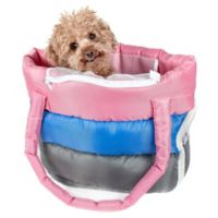 Pet Life™ Bubble-Poly Tri-Colored Insulated Pet Carrier in Pink/Blue