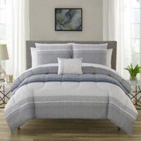 Nile 12-Piece Reversible Queen Comforter Set in Slate Blue