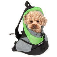 On-The-Go Travel Bark-Pack Backpack Pet Carrier in Green