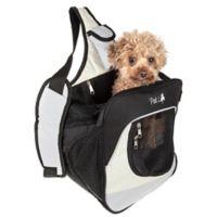 Over-The-Shoulder Single Strap Backpack Pet Carrier in Grey/White