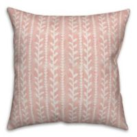 Designs Direct Watercolor Vines Square Throw Pillow in Blush