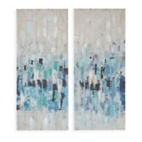 Madison Park™ Blue Impression Canvas Wall Art (Set of 2)