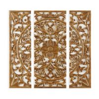 Madison Park™ Abstract Medallion Canvas Wall Art in Gold (Set of 3)