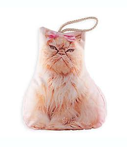 Tope para puerta Charlotte Rachael Hale® con forma de gato en rosa