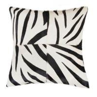 Torino™ Quatro 18-Inch Square Zebra Print Throw Pillow in Black/White