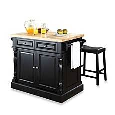 Crosley Butcher Block Top Kitchen Island With 24 Inch