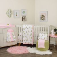 NoJo® Dreamer Cactus 8-Piece Crib Bedding Set in Pink