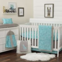 NoJo® Dreamer Modern Safari Crib Bedding Set in Turquoise