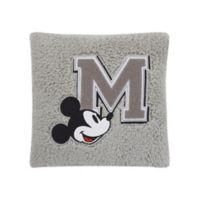 Disney® Mickey Mouse Sherpa Decorative Pillow in Grey