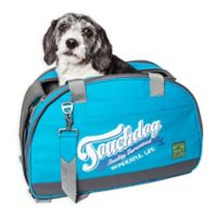 Touchdog Wick-Guard Water Resistant Pet Carrier in Blue