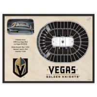NHL Las Vegas Golden Knights 25-Layer Stadium Views 3D Framed Wall Art