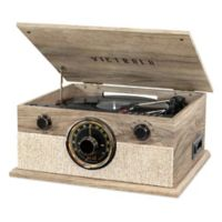 Victrola™ Brookline 6-in-1 Bluetooth Record Player with 3-Speed Turntable in Oatmeal