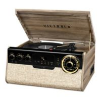 Victrola™ Gramercy 6-in-1 Bluetooth Record Player with 3-Speed Turntable in Walnut
