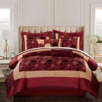 Nanshing Angela King Comforter Set in Red