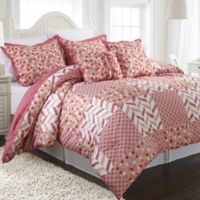 Nanshing Piper Reversible Twin Comforter Set in Pink