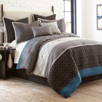 Nanshing Collins King Comforter Set in Black/Grey