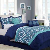 Nanshing Odessa King Comforter Set in Blue