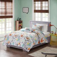 Mi Zone Kids Raff Sloth Twin Comforter Set in Grey