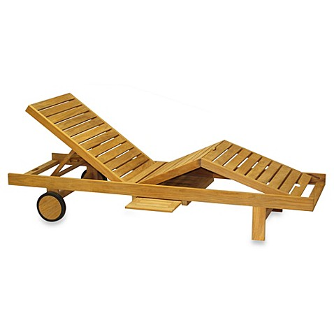 Teak chaise lounge chair bed bath beyond for Bathroom chaise lounge
