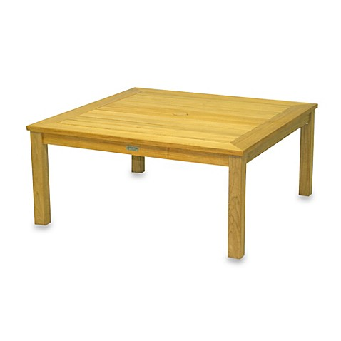 Buy Solid Teak Square Coffee Table From Bed Bath Beyond