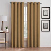 Basel 108-Inch Grommet Room Darkening Window Curtain Panel in Gold