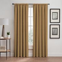 Basel 95-Inch Rod Pocket/Back Tab Room Darkening Window Curtain Panel in Gold