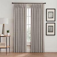 Glam 84-Inch Pinch Pleat Room Darkening Window Curtain Panel in Gold