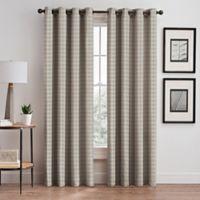 Diamond 95-Inch Grommet Window Curtain Panel in Taupe
