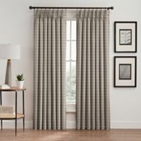 Diamond 108-Inch Pinch Pleat Window Curtain Panel in Taupe