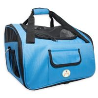 Ultra-Lock Collapsible Wire Folding Pet Car Seat in Sky Blue