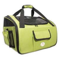 Ultra-Lock Collapsible Wire Folding Pet Car Seat in Olive Green