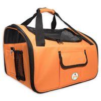 Ultra-Lock Collapsible Wire Folding Pet Car Seat in Orange