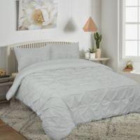 Pucker Up Reversible King Comforter Set in Grey