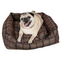 Extra Small Rectangular Dog Bed in Dark Brown