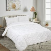 Pucker Up Reversible Twin Comforter Set in White