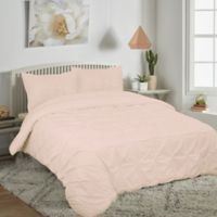 Pucker Up Reversible King Comforter Set in Blush