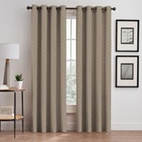 Cascade 84-Inch Grommet Window Curtain Panel in Cafe