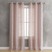 Olivia 84-Inch Grommet Window Curtain Panel Pair in Rose Smoke