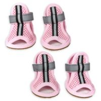Sporty Supportive Extra Small Mesh Pet Sandals in Pink (Set of 4)