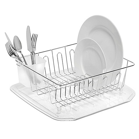 Salt Small Dish Drainer In Chrome Bed Bath Amp Beyond