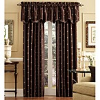 Celeste 84-Inch Rod Pocket/Back Tab Window Curtain Panel in Chocolate