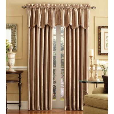 Celeste Scalloped Window Curtain Valance In Taupe
