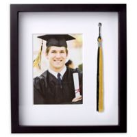 Pearhead® 5-Inch x 7-Inch Graduation Tassel Holder and Photo Frame in Black