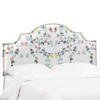 Skyline Furniture Sheffield Floral California King Headboard in Pink