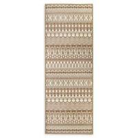 RUGGABLE® Cadiz 2'6 x 7' Flat-Weave Indoor/Outdoor Runner in Natural