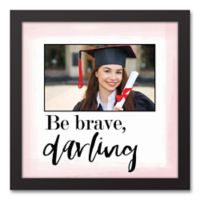 """Designs Direct """"Be Brave, Darling"""" 13.7-Inch Square Framed Canvas Wall Art"""