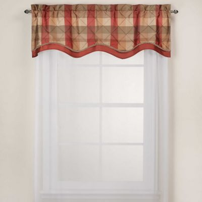 buy red scallop valance from bed bath & beyond