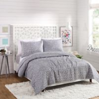 Maker's Collective Scroll Dot Twin/Twin XL Quilt Set in Grey