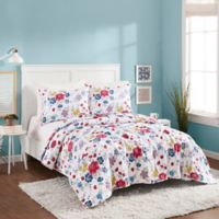 Maker's Collective Flower Patch Reversible Twin/Twin XL Quilt Set in White